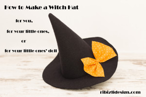 Free sewing pattern and tutorial How to make a Witch Hat